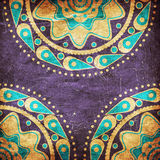 Grunge blue and yellow color ornament Royalty Free Stock Photography