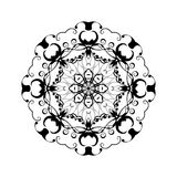Abstract ornament in circle. Ornate mandala with herbal motifs. Element for design. Stock Photo