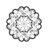 Abstract ornament in circle. Ornate mandala with herbal motifs. Element for design. Vector illustration Stock Image