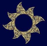 Abstract ornament in de vorm van een cirkel Royalty-vrije Stock Afbeeldingen