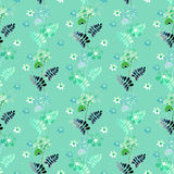 Abstract ornament floral elements seamless pattern texture print Stock Image