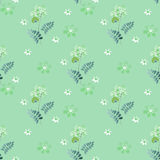 Abstract ornament floral elements seamless pattern Royalty Free Stock Photo