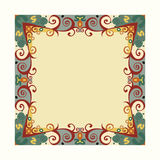 Abstract ornament floral pattern frame Stock Photo