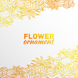 Abstract ornament flower background concept. Illustratio template for your design Royalty Free Stock Image