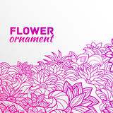 Abstract ornament flower background concept. Stock Image