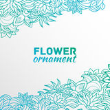 Abstract ornament flower background concept. Royalty Free Stock Photos