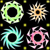 Abstract ornament in the form of Japanese stars. Stock Photo