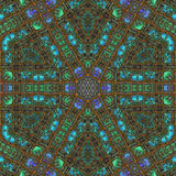 Abstract Ornament Fractal Geometry Style Royalty Free Stock Photography