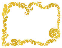 Abstract ornament, golden frame. Abstract floral pattern, golden frame vector illustration Royalty Free Stock Photo