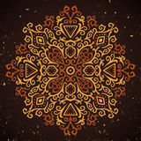 Abstract ornament on grunge background. Vector illustration stock illustration