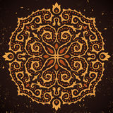 Abstract ornament on grunge background. Vector illustration royalty free illustration