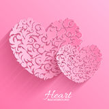 Abstract ornament heart illustration background Royalty Free Stock Photography