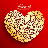 Abstract ornament heart illustration background Stock Photography