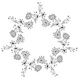 Abstract ornament, indian style Royalty Free Stock Images