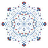 Abstract ornament, mandala with styled flowers Stock Images