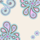Abstract ornament met paisleys Stock Foto
