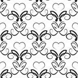 Abstract ornament met wervelingen Naadloos patroon stock illustratie