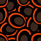 Abstract ornament of orange and brown colors. Seamless patern illustrations stock illustration