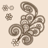 Abstract ornament with paisleys Royalty Free Stock Photos