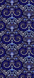 Abstract ornament. Abstract pattern ornament on blue background royalty free illustration