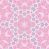 Abstract ornament pink violet light blue kaleidoscope Royalty Free Stock Photo