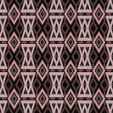 Abstract ornament seamless geometrical pattern on black Stock Photography