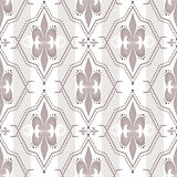 Abstract ornament seamless pattern beige white striped Royalty Free Stock Photography
