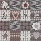 Abstract ornament seamless pattern patchwork style Stock Photo