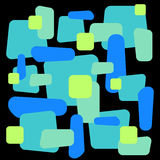 Abstract  ornament on square tile. Colorful geometric decorative pattern. Stock Photos