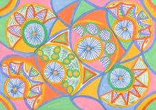 Abstract ornament van waterverf op papier Royalty-vrije Stock Foto