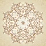 Abstract  ornament in Victorian style. Royalty Free Stock Photos