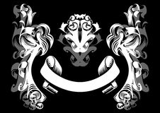 Abstract ornament in white and grey colors Stock Photos