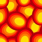 Abstract ornament of yellow and red colors. Seamless patern illustrations royalty free illustration