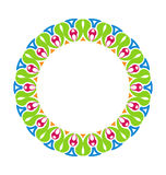 Abstract Ornamental Colorful Round Framework Royalty Free Stock Photography