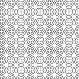 Abstract Ornamental Cross Seamless Pattern Background Vector Illustration. Black Abstract Seamless Geometric Ornament Spiral Pattern Of Mesh Circles Lines vector illustration
