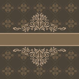 Abstract ornamental dark brown background for wrapping Royalty Free Stock Photos