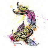 Abstract Ornamental Fish. Illustration of an Abstract Ornamental Fish Stock Images