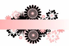 Abstract ornamental floral background Stock Photo