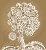 Abstract ornamental magic tree Stock Photo