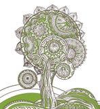 Abstract ornamental magic tree Stock Image