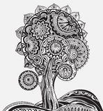 Abstract ornamental magic tree with a lot of details Stock Photo