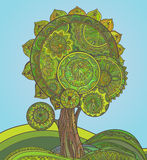 Abstract ornamental magic tree with a lot of details Stock Image