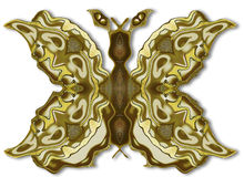 Abstract ornamental metal object resembling vintage butterfly Stock Photo