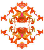 Abstract ornamental pattern with exotic flowers Stock Image