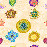 Abstract ornamental pattern. Seamless texture Royalty Free Stock Photography