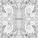 Abstract ornamental pattern in zentangle style Royalty Free Stock Photo