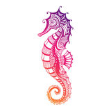 Abstract Ornamental Sea Horse Royalty Free Stock Photos