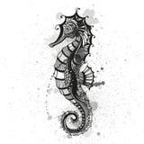Abstract Ornamental Sea Horse. Illustration of an Abstract Ornamental Sea Horse Vector Illustration