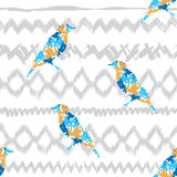 Abstract ornamental seamless pattern with birds Stock Photography