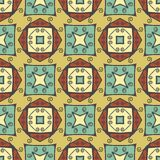 Abstract ornamental seamless pattern. Royalty Free Stock Image